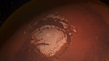 Water on Mars From Space on the North Polar Ice Cap
