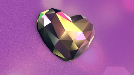 上流階級の : Beautiful Diamond Shaped Heart on a Pink Background
