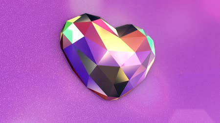 rubi : Colorful Diamond Shaped Heart with Flickering Lights