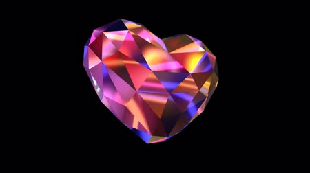 coração : Colorful Diamond Shaped with Lights in Alpha Channel