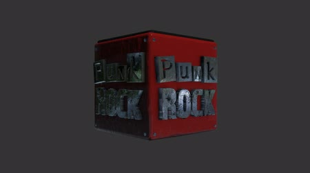 serseri : Punk Rock Title Rotating for a Lower Third in Alpha Channel