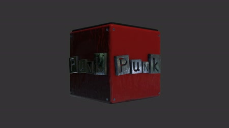 serseri : Punk Title Rotating for a Lower Third in Alpha Channel