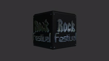 serseri : Rock Festival Title Rotating for a Lower Third in Alpha Channel