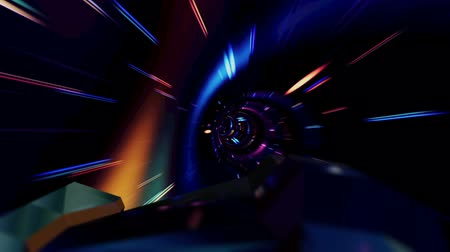 размеры : Spaceship Flying Through a Wormhole in Seamless Loop