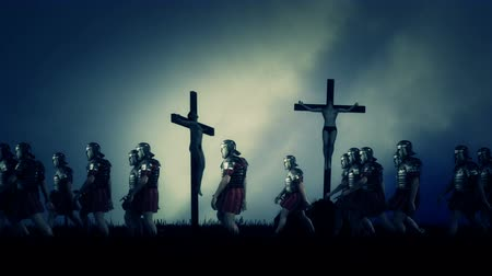 crucified : Roman Soldiers Passing By Crucified Victims