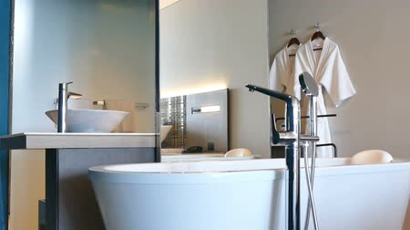 banyo : Bathroom interior Stok Video
