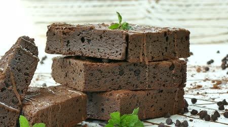 fondo chocolate : Pastel de chocolate brownie