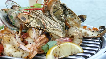 seafood dishes : Grilled Mixed seafood