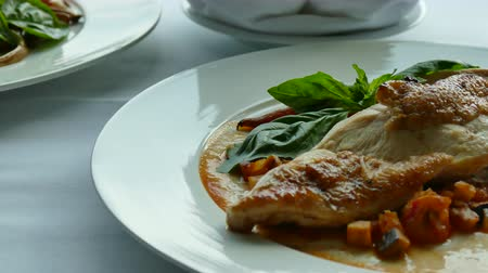 fileto : Chicken steak Stok Video