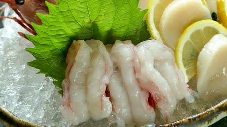 prawns : Shrimp Sashimi - japanese food style