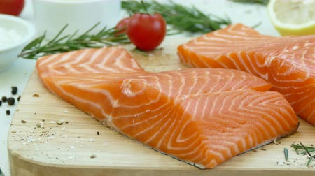 pepř : Close Up Salmon Fillet