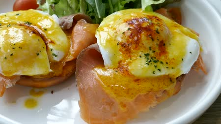 avocado : Eggs Benedict with Smoked Salmon
