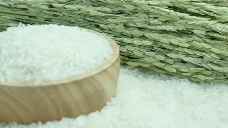 basmati : Close up raw rice Stock Footage