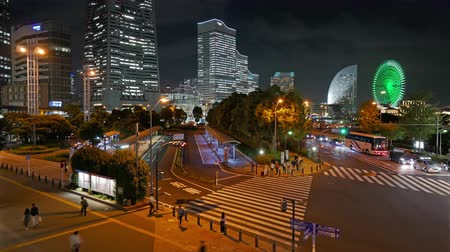 minato : Timelapse view of Yokohama Japan Stock Footage