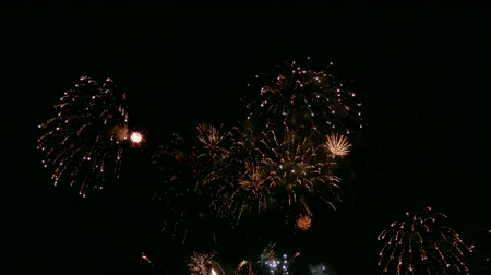black and red : 4K Firework display