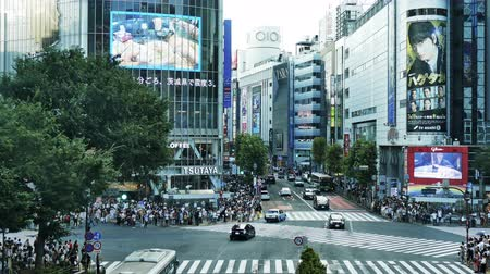 shibuya : TOKYO - JAPAN, JULY 29, 2018 : People walking the Shibuya crossing