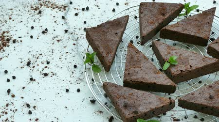 brownie de chocolate : Pastel de chocolate brownie
