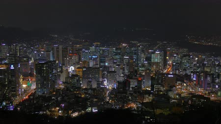 korejština : 4K Time lapse Building of Seoul skyline in South Korea