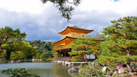 павильон : Colorful Autumn with Kinkakuji temple Golden pavilion in Kyoto, Japan.