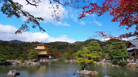 Colorful Autumn with Kinkakuji temple Golden pavilion in Kyoto, Japan.