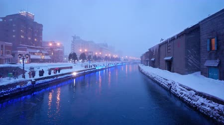 Beautiful Winter day on the canal in Otaru Hokkaido