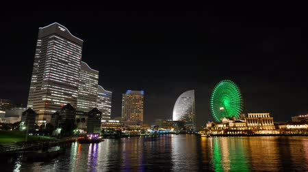 Timelapse weergave van Yokohama Japan Stockvideo