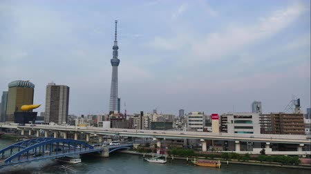 Timelapse view of Tokyo city with Tokyo Skytree in japan