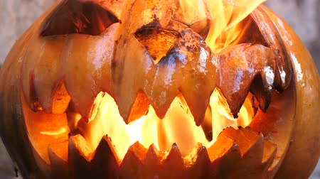 frightful : Halloween. Burning Infernal Pumpkin.