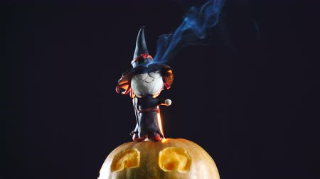 dole : Halloween. Burning witch. Close-up view