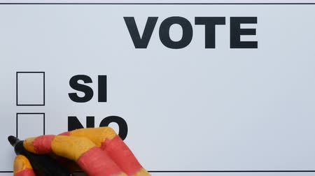 bölmek : Catalan hand voting no