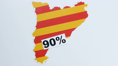 feloszt : Illustration, 90 percent of Catalonia Stock mozgókép