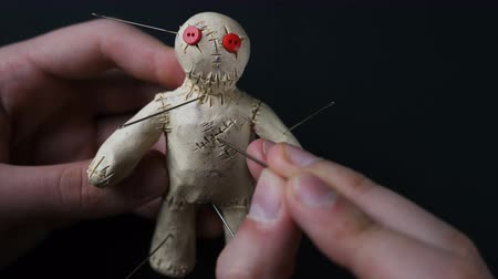hag : Voodoo Doll. Illustration of numerous health problems Stock Footage