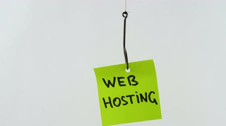 seçenekleri : Illustration, on fishhook Web hosting Stok Video
