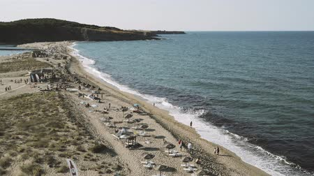 kelet európa : View from the Cliff above Veleka beach at Sinemorets, Bulgaria