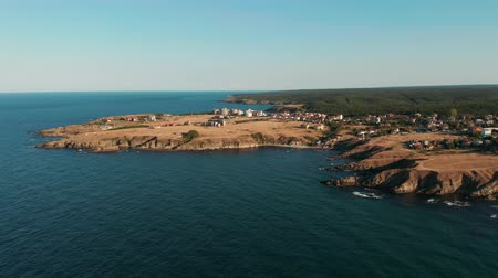 bułgaria : Aerial view of the coastline near Dolphin beach, Bulgaria