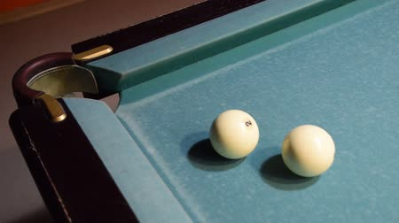 последний : Billiards, billiard table. Balls on the billiard table