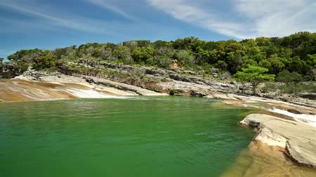 High definition video of the natural beauty of the Pedernales Falls in the Texas Hill Country.