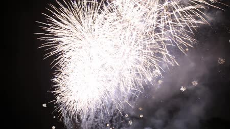 wisla : Fireworks at night Stock Footage