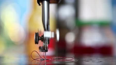 рукоделие : close up on sewing machine