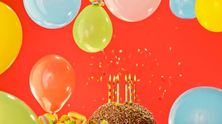 uitnodiging verjaardag : Birthday Party Stockvideo