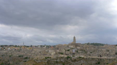 Panorama of the city of Matera in Italy, Italy. Europe Dostupné videozáznamy
