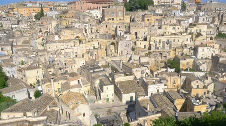 Panorama of the medieval city of Matera, tourist attraction Italy. Europa