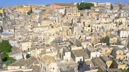 toskánsko : Panorama of the medieval city of Matera, Italy. Europe