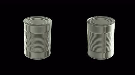 green soda can : Cans animation pack 6 in 1 with alpha screen 9 sec for loop  Stock Footage