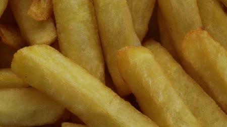 bread stick : american french fries Stock Footage