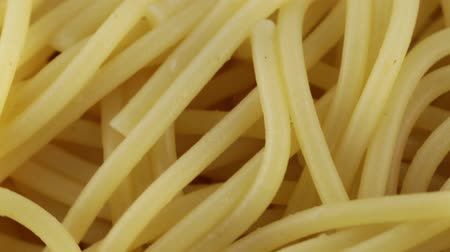 Spaghetti without seasoning Stock Footage