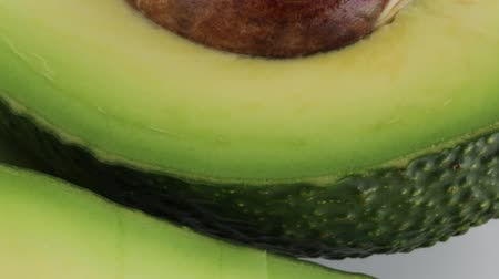 half Avocado,inside shot Stock Footage