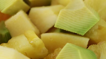 fruit salad mixed fruit Stock Footage
