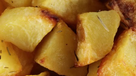 bread stick : Baked potatoes Stock Footage