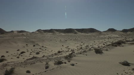 дюна : Desert sand dunes in Dahkla, Western Sahara. Other views available. Стоковые видеозаписи